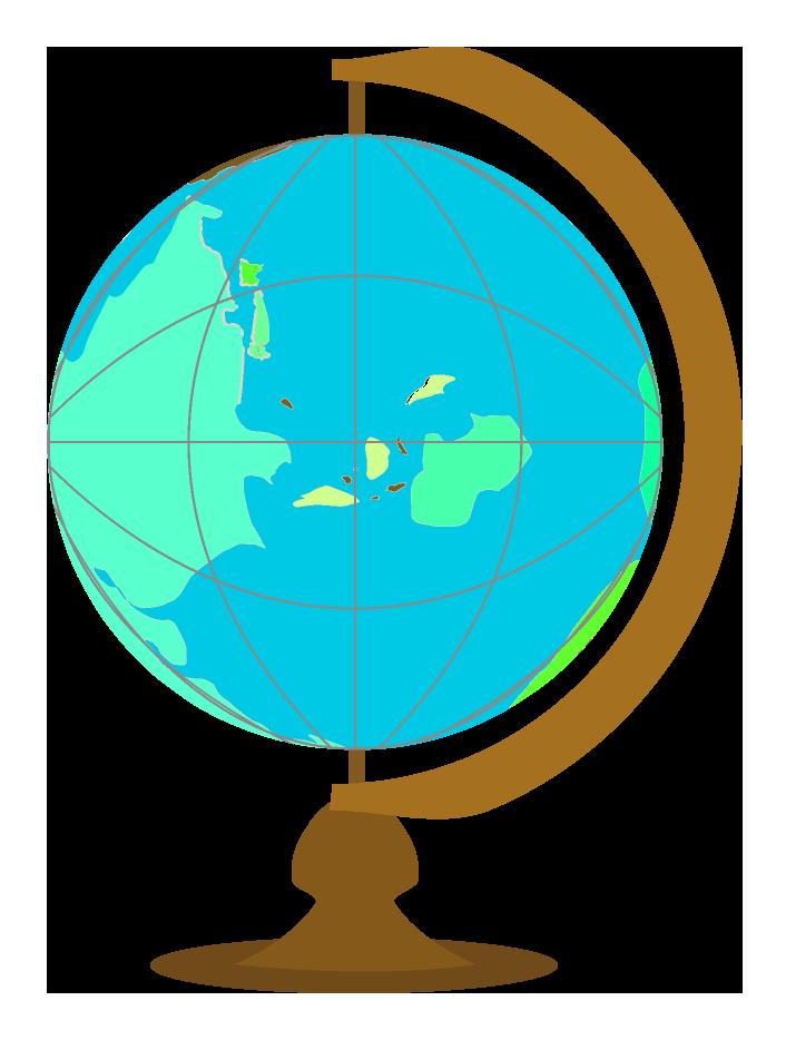水色の地球儀のイラスト