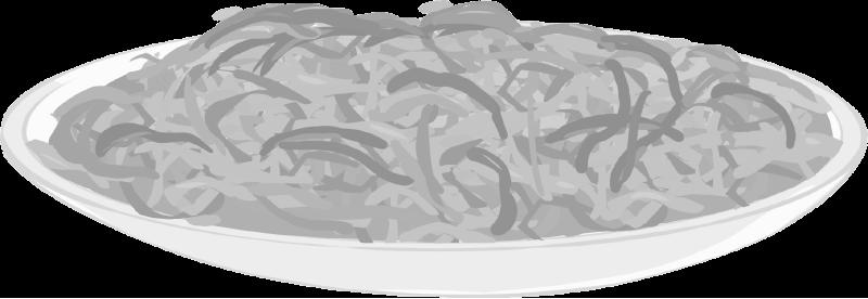 白黒の青椒肉絲のイラスト