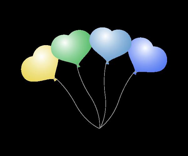 ハートの風船のイラスト