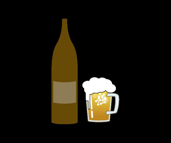 ビールの父の日小物飾りのイラスト