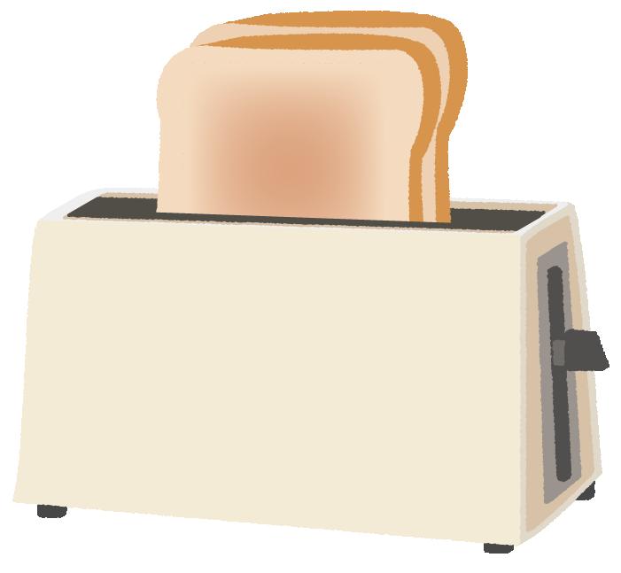 食パン専用のトースターのイラスト