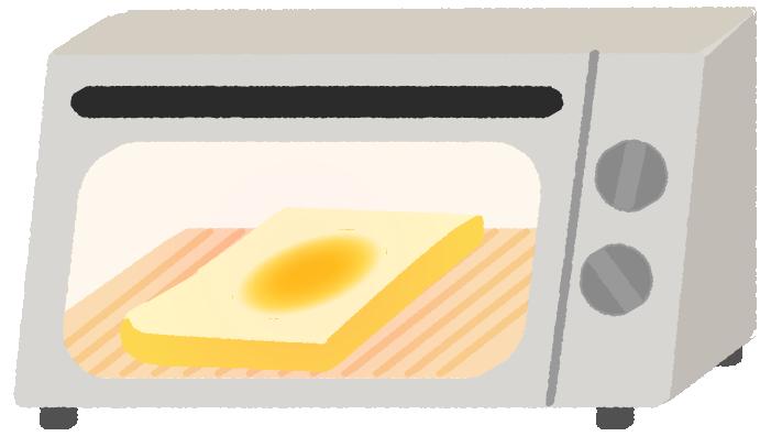 食パンとオーブントースターのイラスト