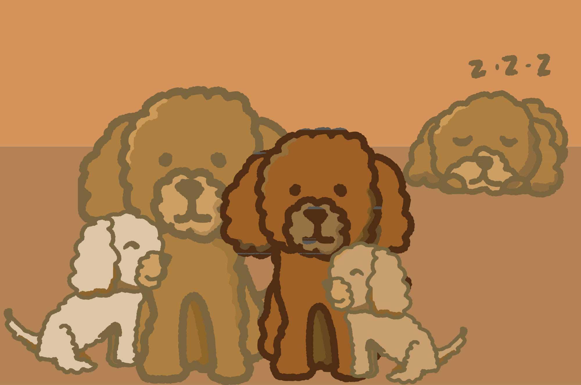 トイプードルのイラスト 犬の可愛いキャラ無料素材 チコデザ