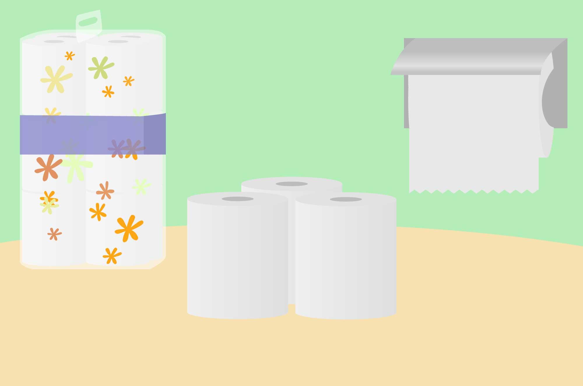 トイレットペーパーのイラスト - 生活必需品の素材