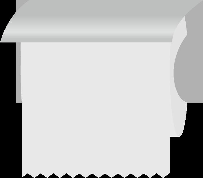トイレに設置したトイレットペーパーのイラスト