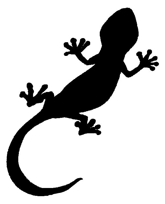 トカゲのシルエット