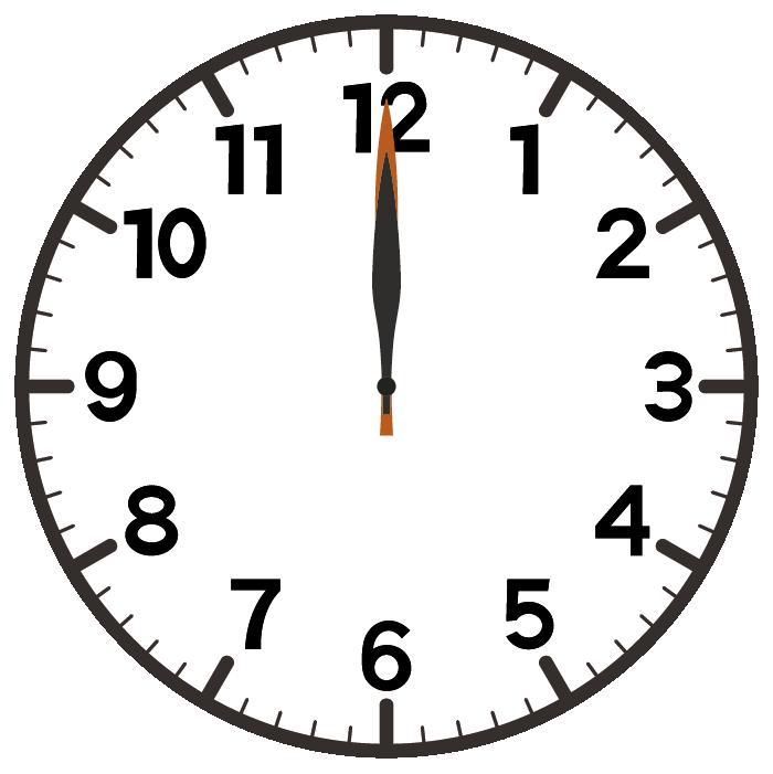 12時ちょうど