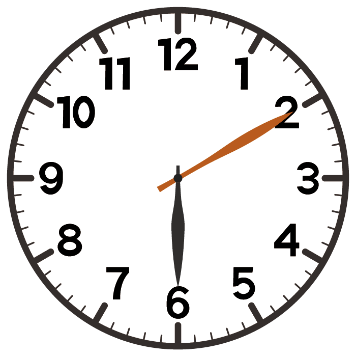 6時10分