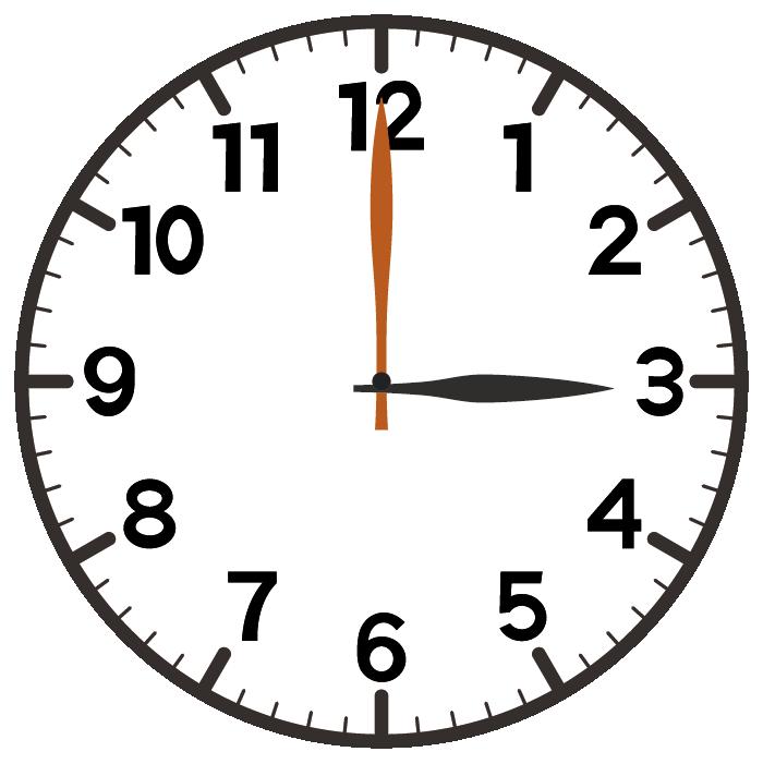 3時ちょうど