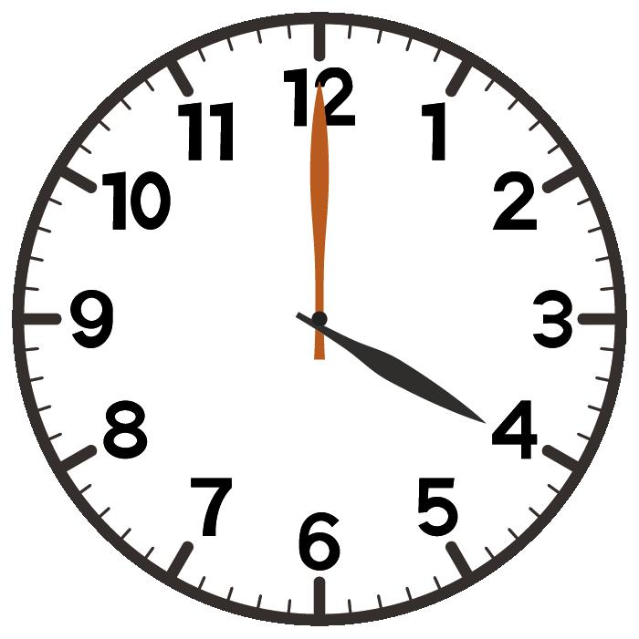 4時ちょうど