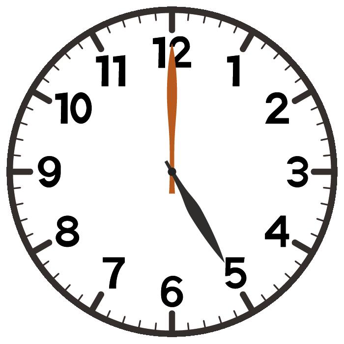 5時ちょうど