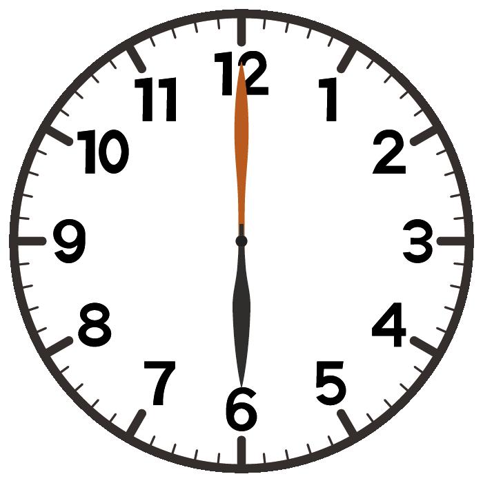 6時ちょうど