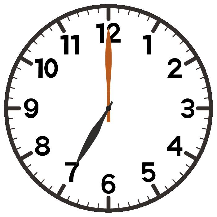 7時ちょうど