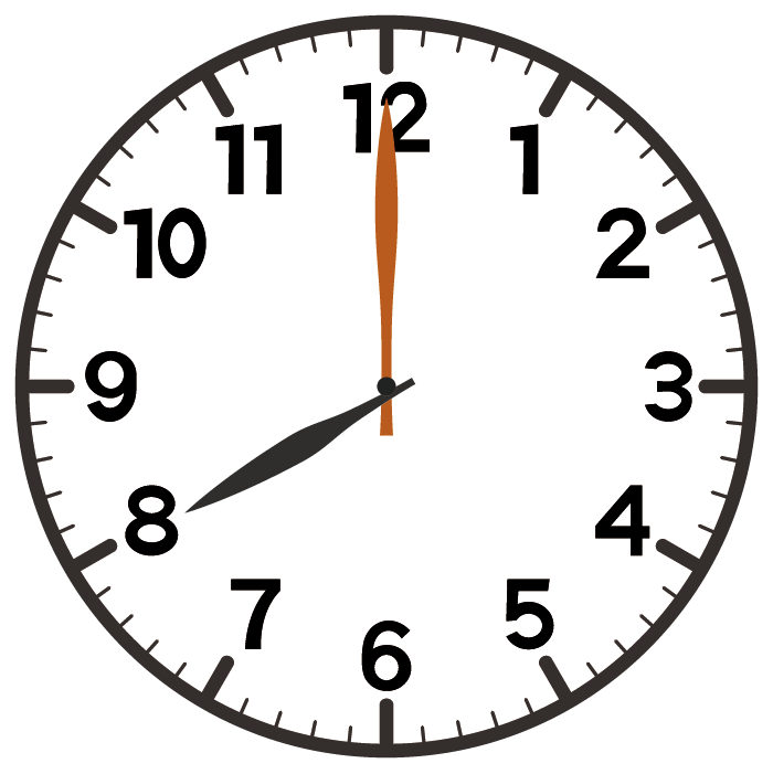 8時ちょうど
