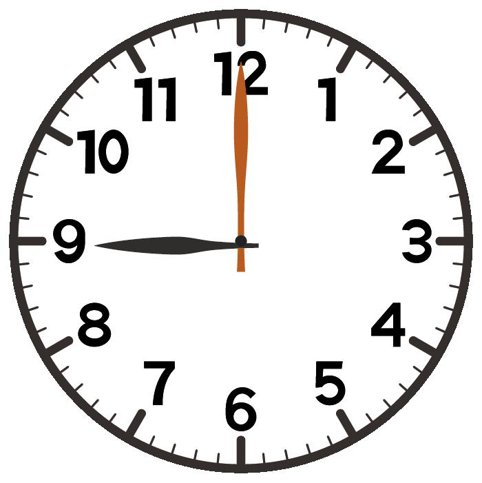 9時ちょうど
