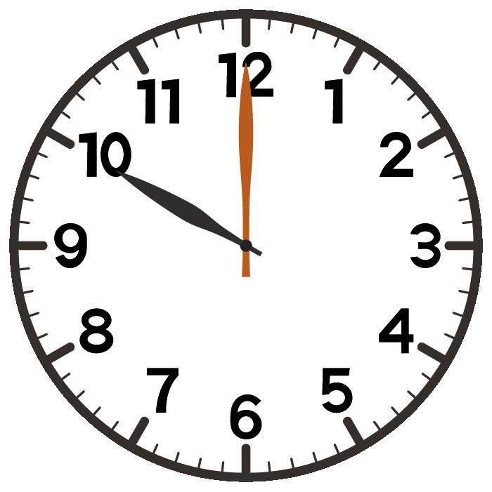 10時ちょうど