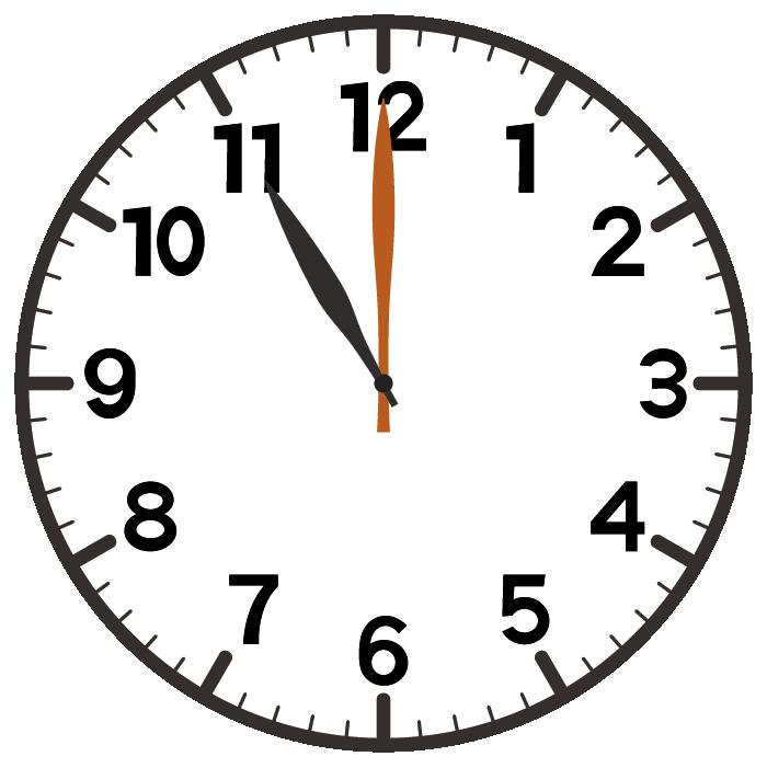 11時ちょうど