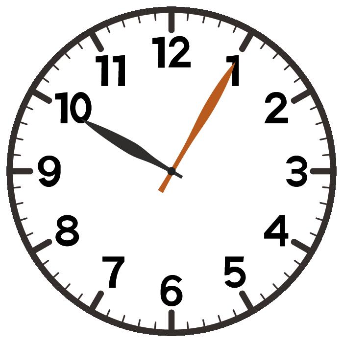 10時5分