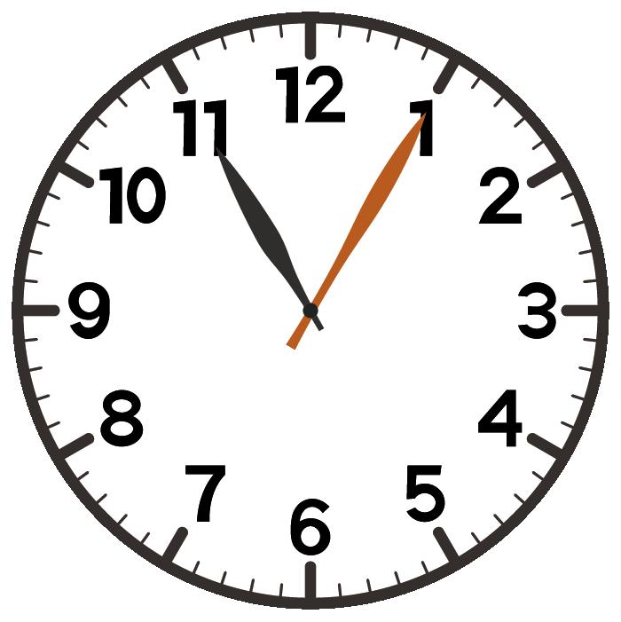 11時5分