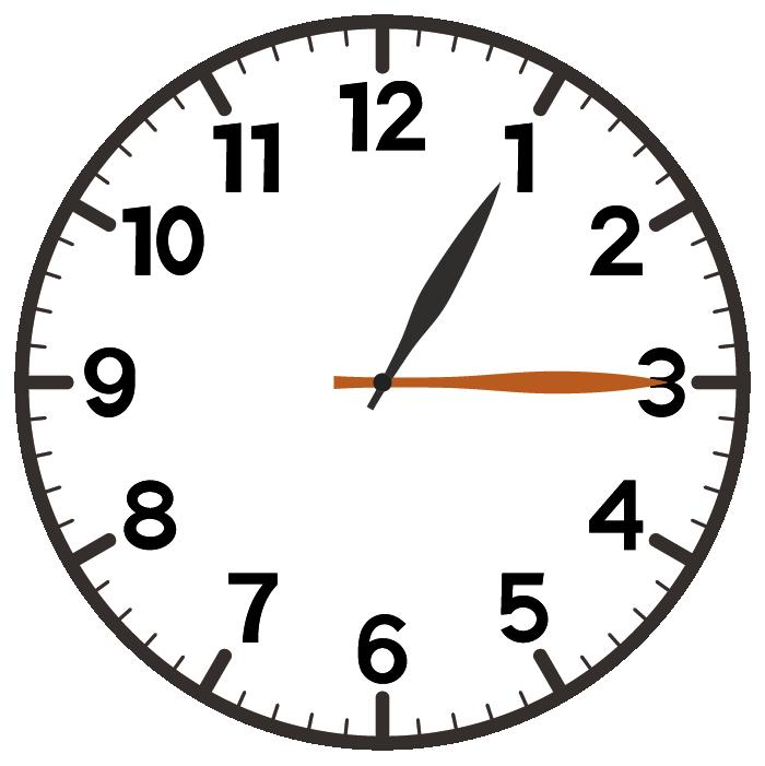1時15分