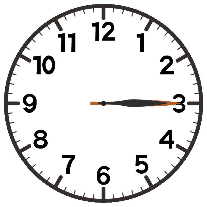 3時15分