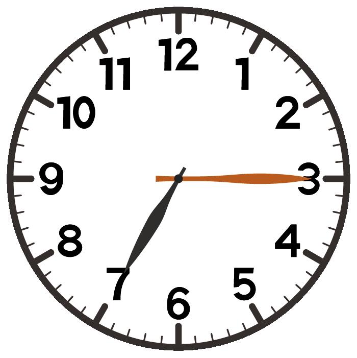 7時15分
