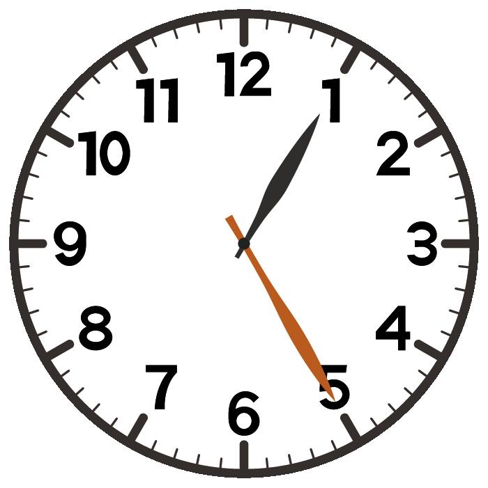 1時25分
