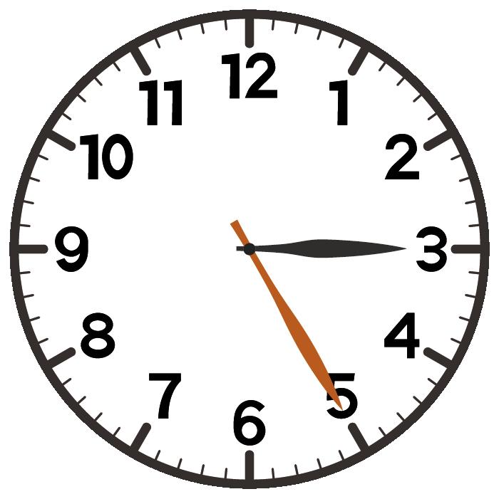 3時25分