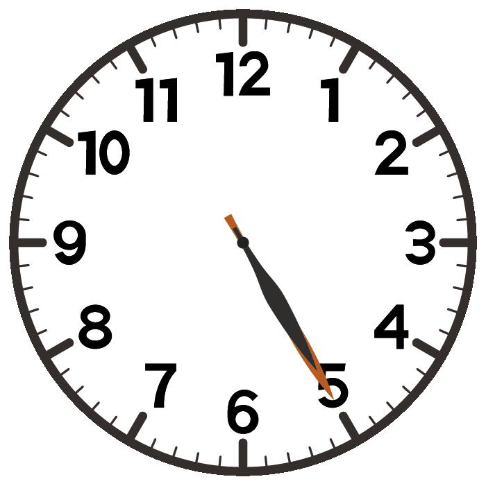 5時25分