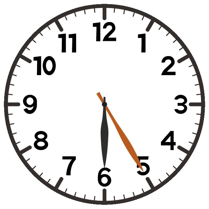 6時25分