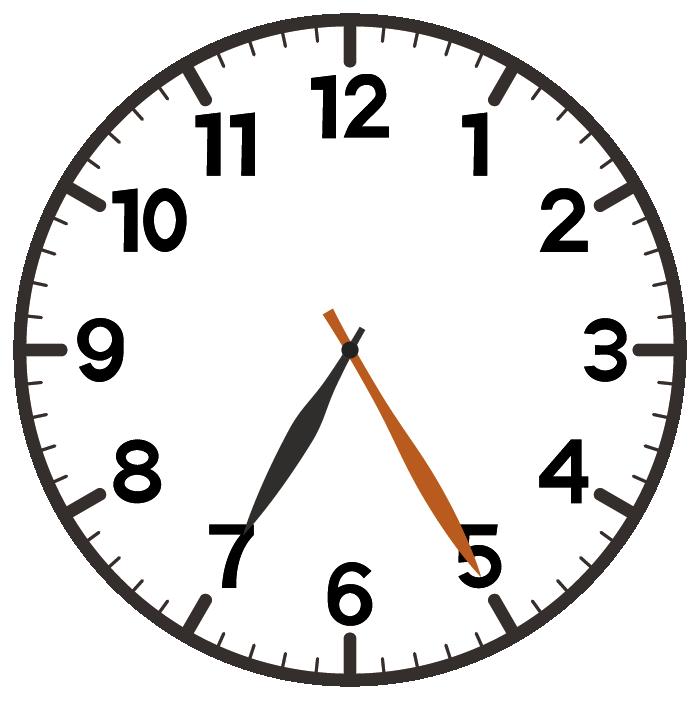 7時25分