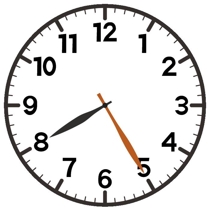 8時25分