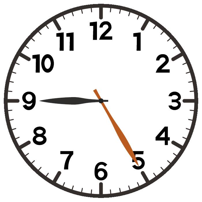 9時25分
