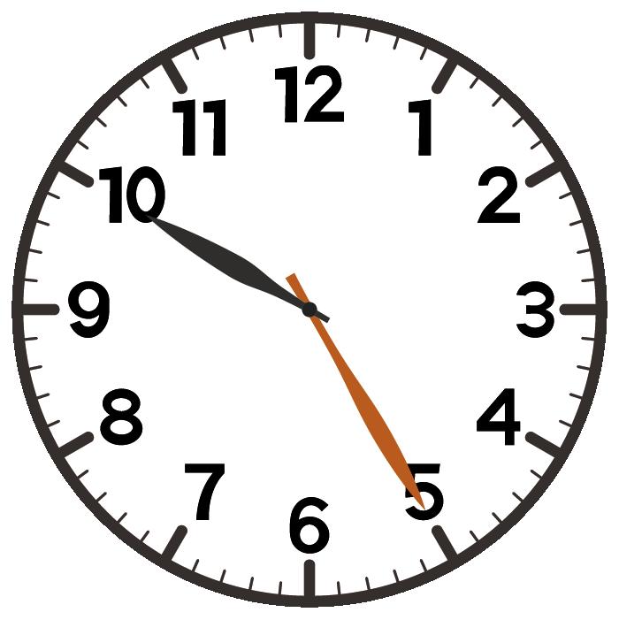 10時25分