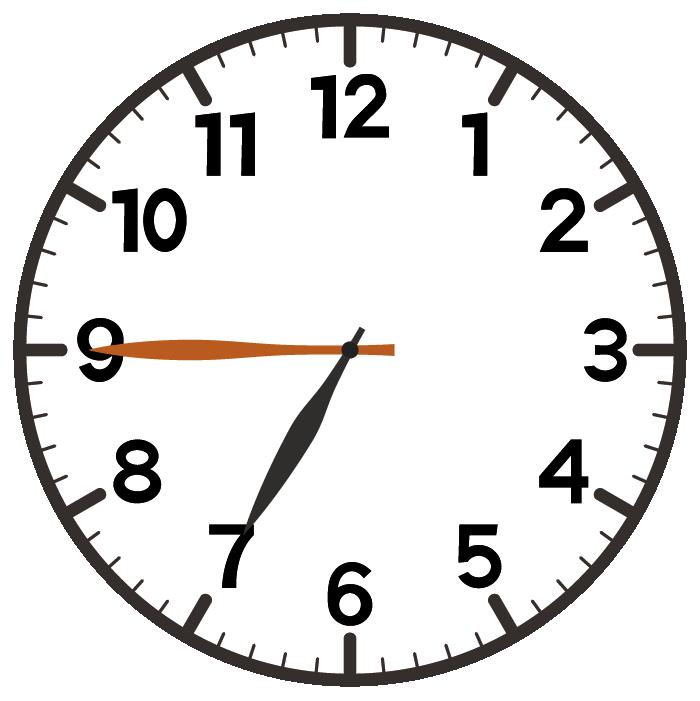 7時45分