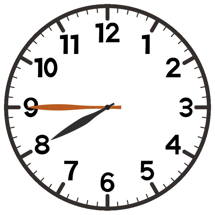 8時45分