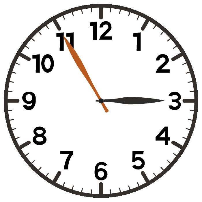 3時55分