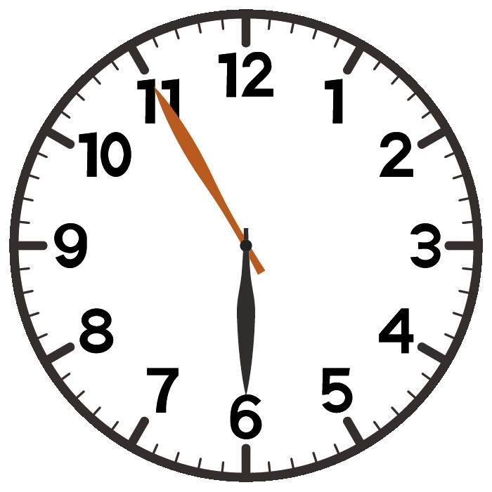 6時55分