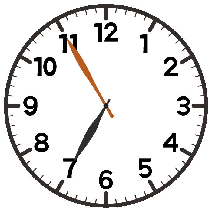 7時55分