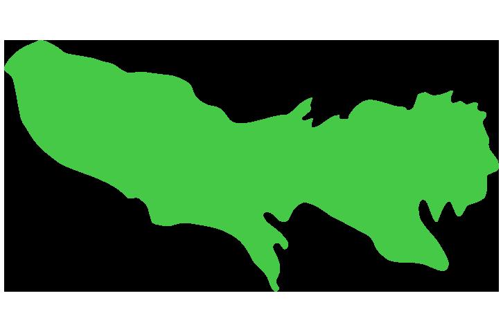 東京の地図のイラスト(大陸)
