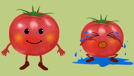 トマトのキャラクターイラスト