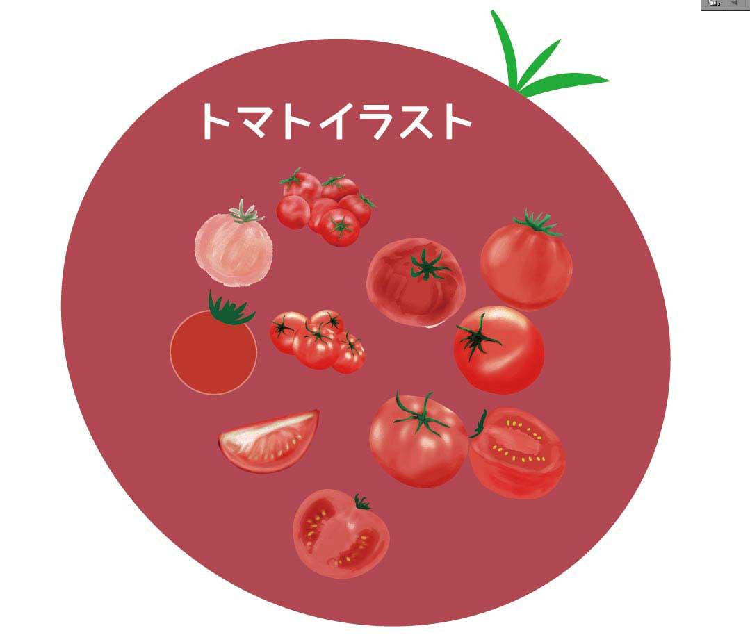 トマトのベクターイラスト素材