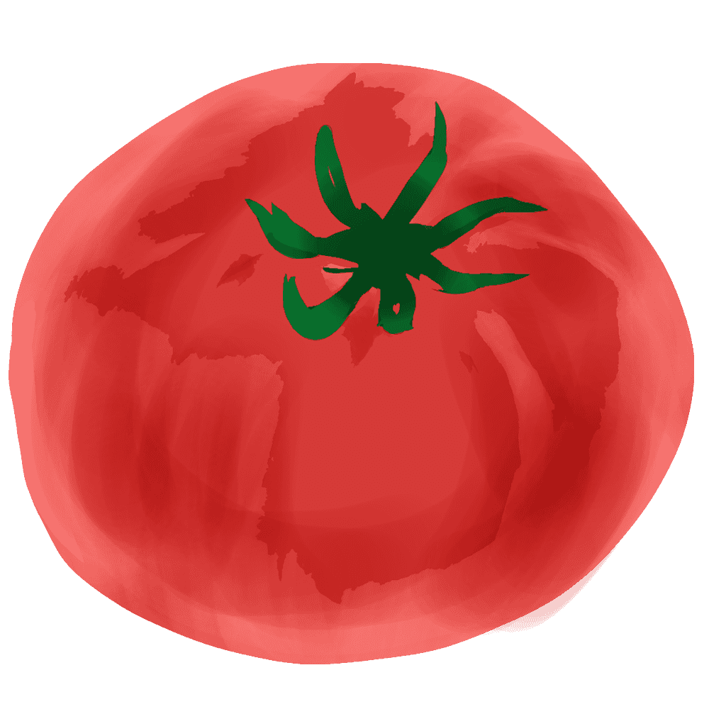 アートなトマトイラスト