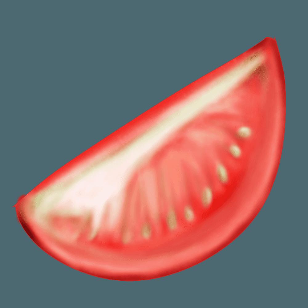 トマトの8分の1カット