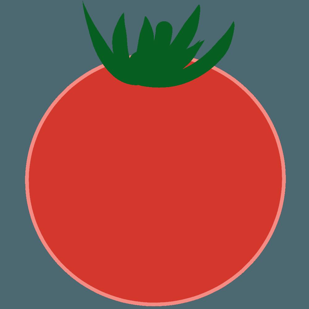 ベクターチックなトマトのイラスト