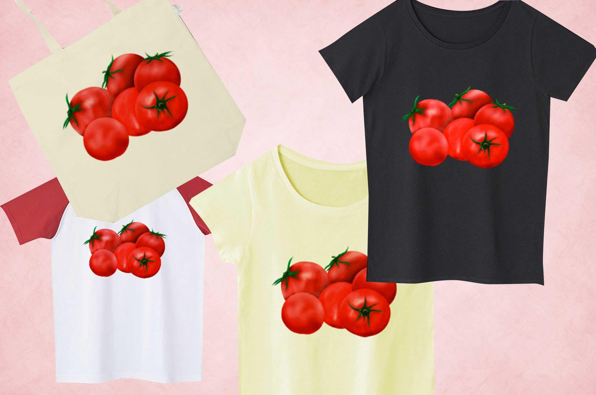 トマトTシャツ - 可愛い手書きの野菜イラストグッズ
