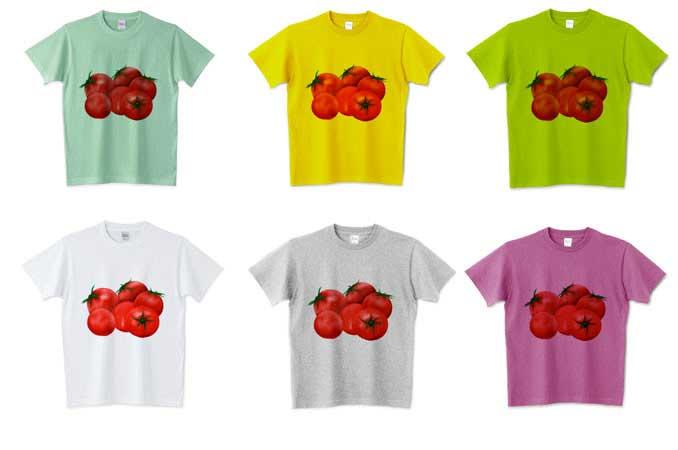 カラーがたくさんあるトマトTシャツ