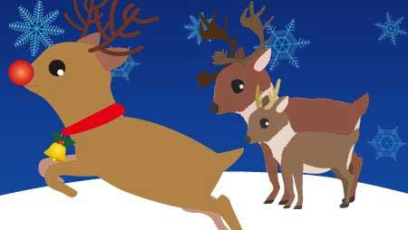 可愛いトナカイのイラスト - 冬とイベントの動物無料素材