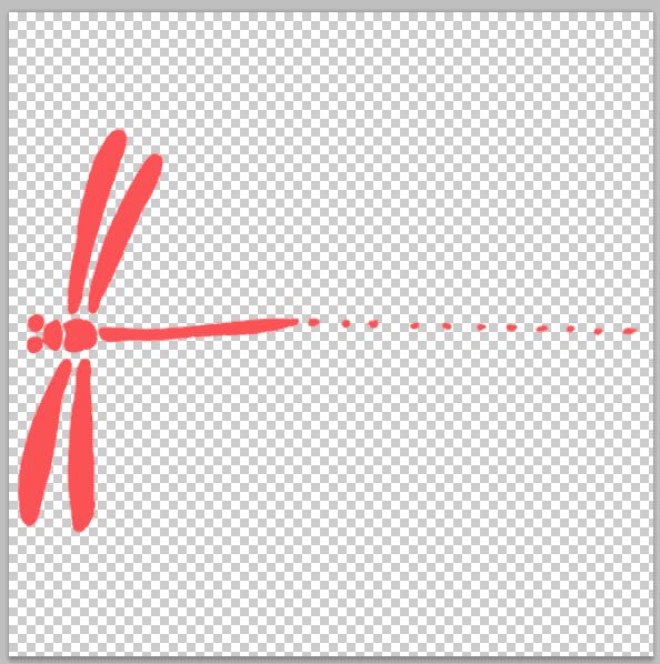 トンボの…素材をphotoshopで開く。