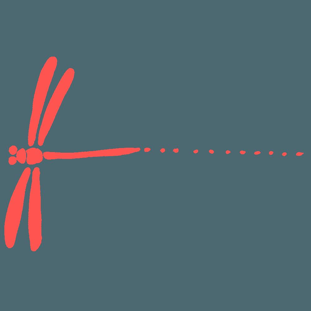 トンボのライン素材用イラスト
